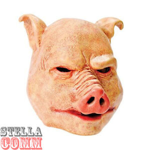 Deluxe Horror Latex Pig Mask Halloween Evil Scary Animal Fancy Dress Costume