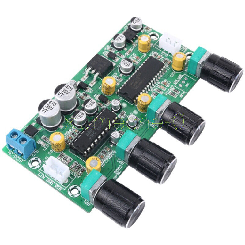 1PCS Audio Preamplifier Tone Board Balance Treble Bass Preamp EQ Pre-amplifier