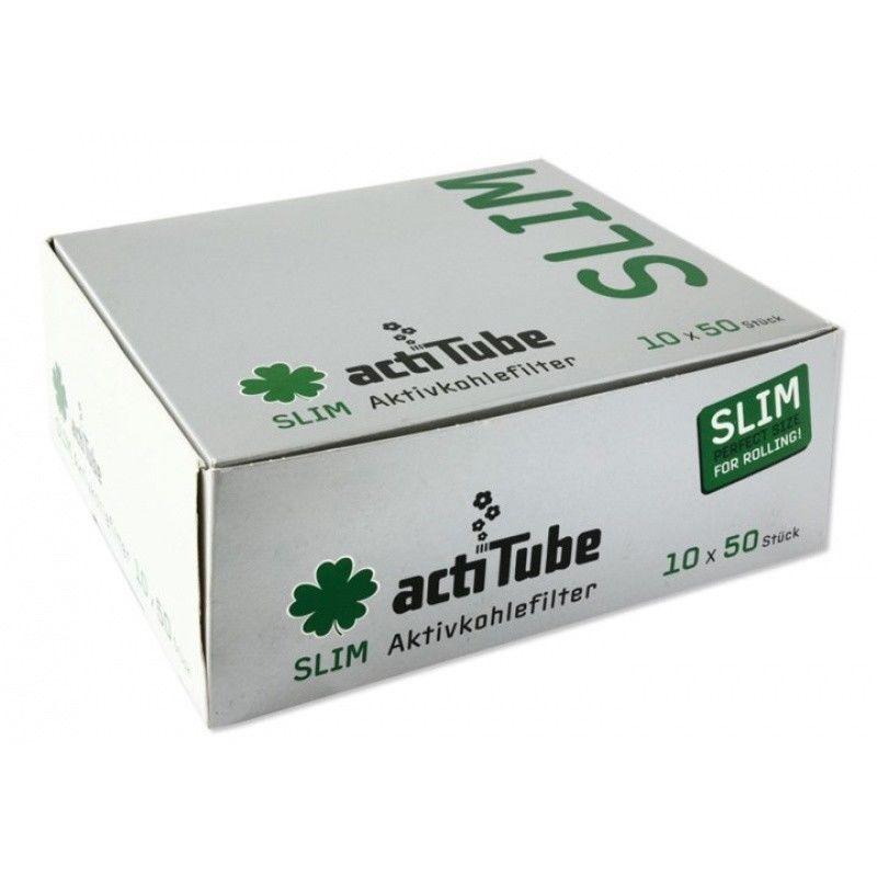 500 ActiTube SLIM Aktivkohlefilter 10x50er Aktivkohle Filter Tune Kohle RAUCHEN