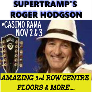 ROGER HODGSON @RAMA! AMAZING CENTRE FLOOR OPTIONS & MORE