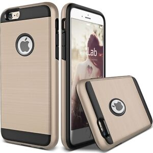 TOUGH ARMY GOLD HYBRID BRUSHED SHOCKPROOF COVER FOR IPHONE 6, 6S