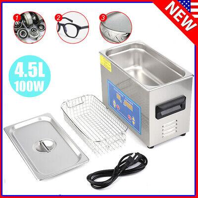 4.5L Ultrasonic Cleaner Ultra Sonic Bath Heater Tank Timer Jewelry Watch Clean @