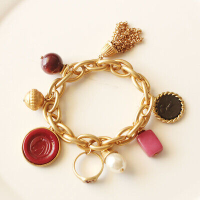 New Chicos Multi-Charms Elastic Bracelet Best Gift Fashion Women Party Jewelry