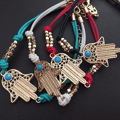 Women Fashion Hamsa Fatima Hand Bangle Bracelet Amulet Lucky Protection Chic Hamsa Hand Protection
