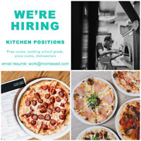 NOW HIRING KITCHEN POSITIONS!