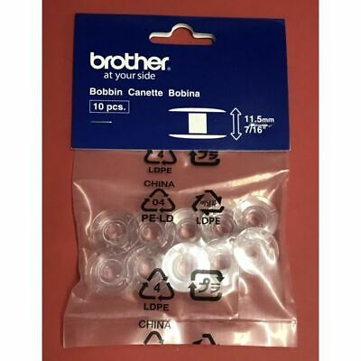 Brother Sewing and Embroidery Bobbins 10-pack, SA156