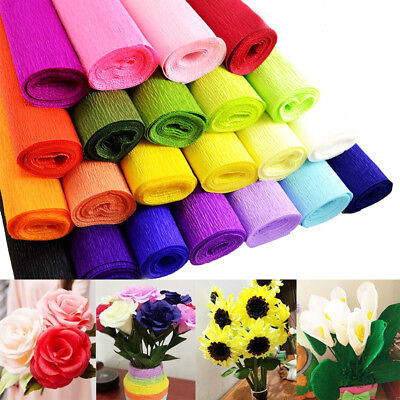 One Roll Crepe Paper for DIY Handmade Paper Flower Wedding Birthday Party Decor - Crepe Paper Decorations