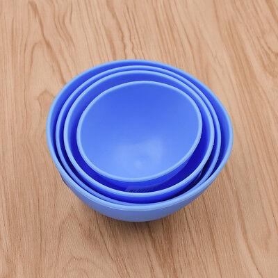 1pc Blue Dental Mixing Bowl Alginate Impression Silicone Four Sizes Rubber Tool