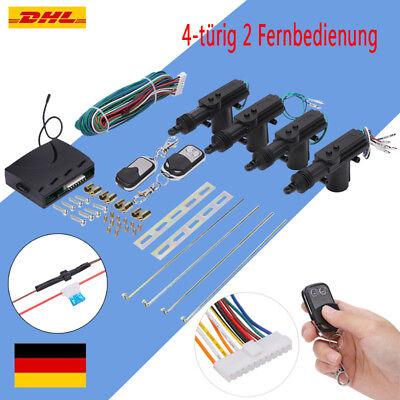 Universal Auto Funk-Zentralverriegelung 4-türig Komplett Set 2 Fernbedienung NB