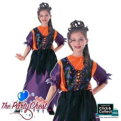 GIRLS PRETTY WITCH COSTUME Child Halloween Purple Witch - Girls Pretty Witch Kostüme