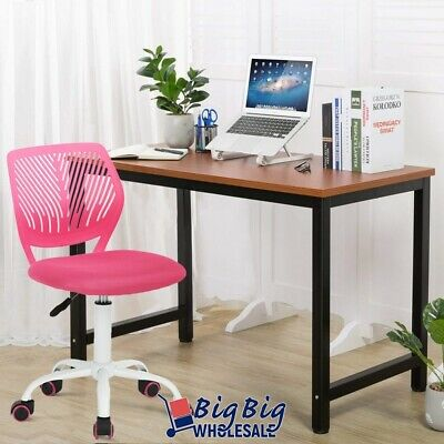 Office Chair Swivel Ergonomic Pink Plastic Mesh Kids Desk Comupter Study Room