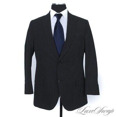 LNWOT Z Zegna Charocal Pinstripe Silk Blend Puckered Seersucker Jacket 54
