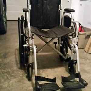 Almost brand new wheelchair , used only 1 month