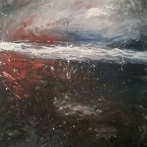 Abstract paintings by local artist