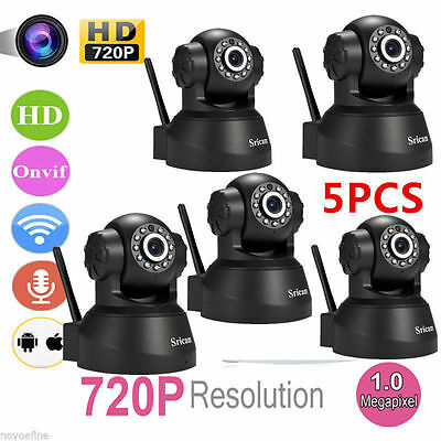 5 ODM Set of Sricam 1080P Wireless IP Camera WiFi Safe keeping Tenebriousness Delusion Cam US