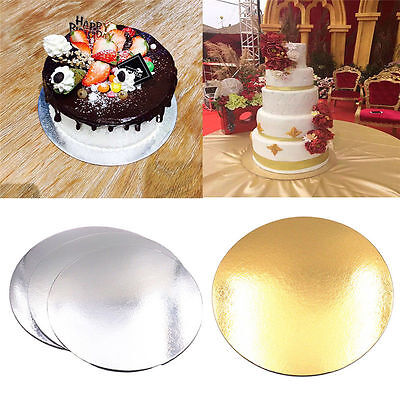5PCS Sugarcraft 8 Inch / 10 Inch Round Baking Cake Paper Boards Wedding - Round Cake Boards