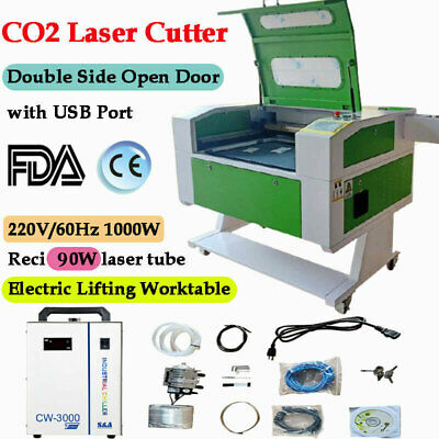 Us Reci 20x28 90w Co2 Laser Engraving Machine Laser Engraver Laser Cutter Usb
