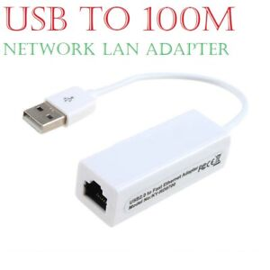 100Mb USB 2.0 to Fast Ethernet 10/100 RJ45 Network LAN Adapter Card Dongle A++