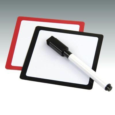 2 x Magnettafel Notiztafel Memoboard Whiteboard Kühlschrankmagnet Boardmarker ()