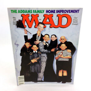 Vintage Mad Magazine June 1992 Addams Family Home Improvement