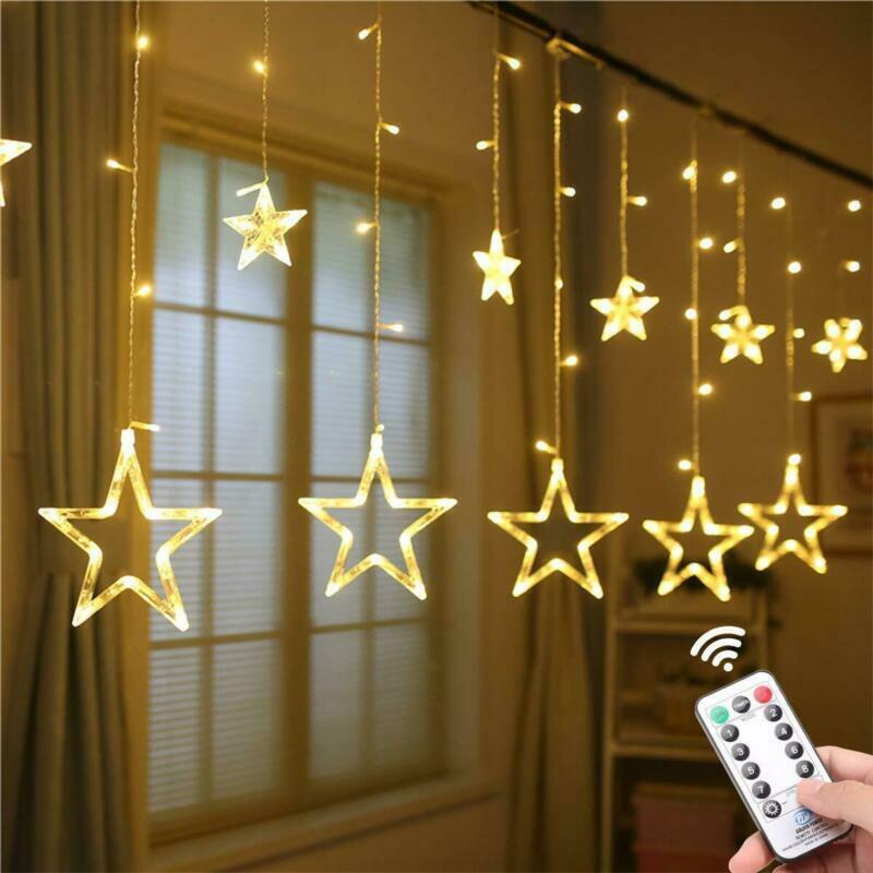 Curtain String Lights 138 Led Window