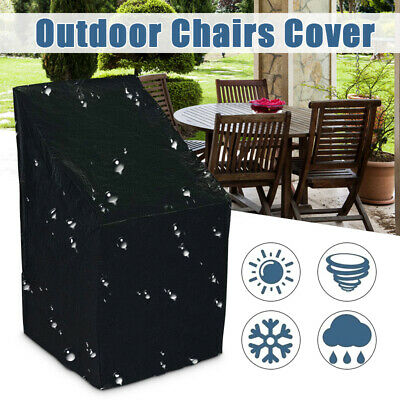 Waterproof Stacking Chairs Cover Outdoor Garden Parkland Patio Furniture US ()
