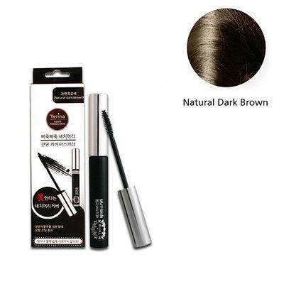 Hair Mascara Natural Dark Brown Color 12g / 0.42oz Cover Gray Hair K-beauty