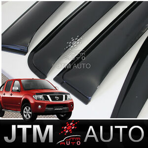 Nissan-Navara-D40-Weathershields-Weather-Shields-Window-Visor-2005-2014