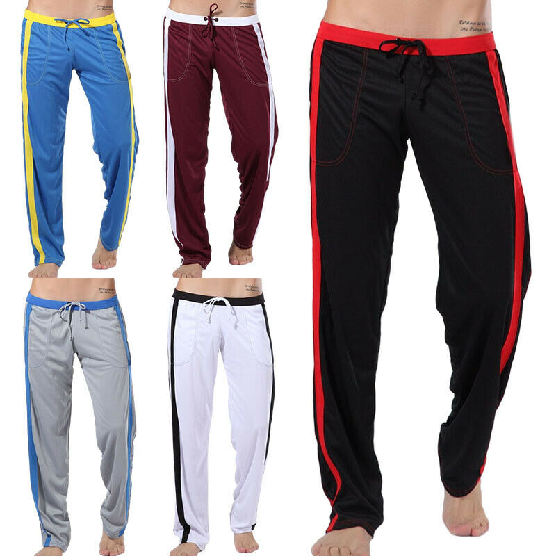 Mens Casual Joggers Pants Drawstring Sweatpants Sports Gym Loose Active Trousers