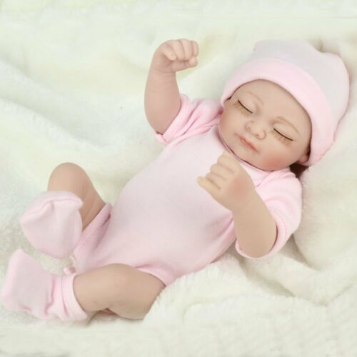 11 inch Real Life Newborn Lifelike Full Body Soft Vinyl Silicone Baby Girl Dolls