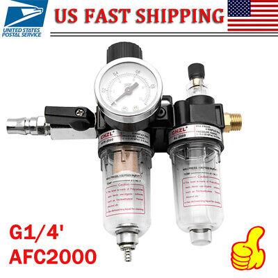 Afc2000 G14 Air Compressor Filter Regulator Gauge Oil Water Separator Trap