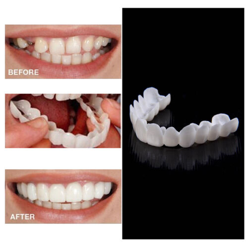 Средство ухода за зубами 2PCS Snap On Perfect Smile Fake Tooth Cover  Comfort Fit Flex Teeth White 2018