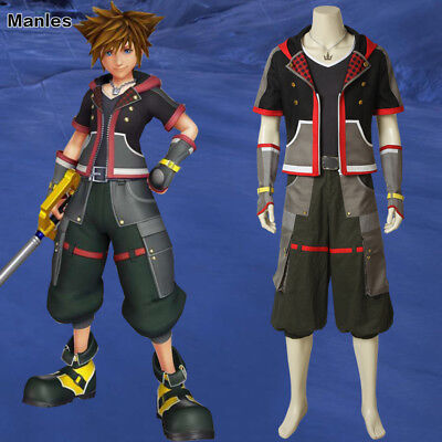 Kingdom Hearts 3 Cosplay Sora Costume Game Fancy Dress Outfits Men New Year - Kingdom Hearts Outfits