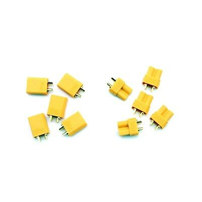 120 Mini Plugs - HobbyStar 5x XT30 Connector Sets, Male and Female Mini RC Hobby LiPo Plugs USA