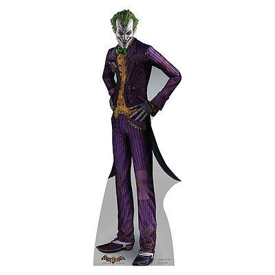 THE JOKER Batman Arkham Asylum Lifesize CARDBOARD CUTOUT Standee Standup Poster