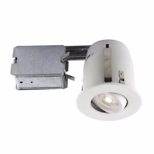 LuxLite 4-in. Recessed LED Lighting Kit GU10
