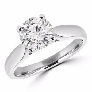 BAGUE EN OR DIAMANT SOLITAIRE 1.20 CT / SOLITAIRE DIAMOND ENGAGEMENT RING IN 14K GOLD 1.20 CARAT