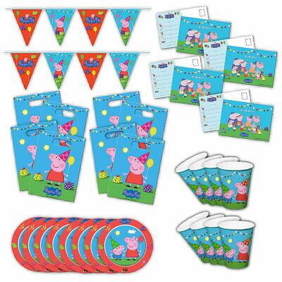 Peppa Wutz 2 Partybox original Kindergeburtstag 34-teilig Deko Peppa Pig