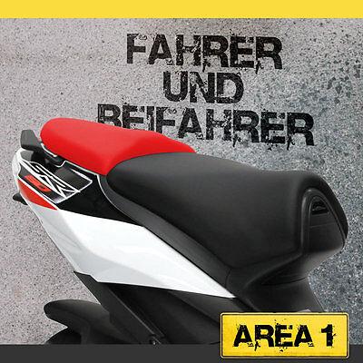 Aprilia SR 50 R / FACTORY Sitzbezug Set - Schwarz / Rot