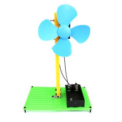 Green DIY Fans Toy Electronic Fan Kit Education Model Toy12*7.5*18cm School