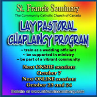 Training for Wedding Chaplains - online and onsite sessions Sept