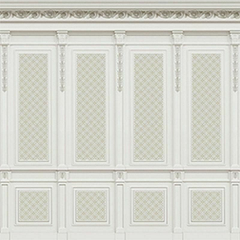Dollhouse Miniature 1:12 Scale French Wall Panel Boiserie Beige