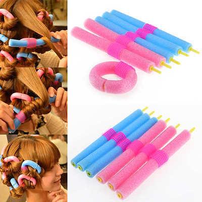 12Pcs / Set Twist Bendy riccioli dei capelli rulli di schiuma bigodini Benders