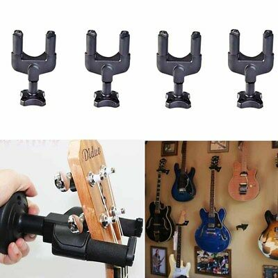 4x Guitar Wall Mount Hanger Stand Holder Hooks Display Acoustic Electric Bass US