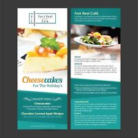 Logos, business cards, flyers, brochures and more!!!