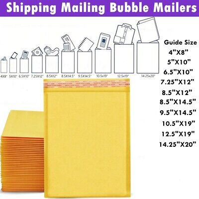 Big Kraft Bubble Mailers Bubble Mailing Envelopes Protective Large Shipping Bags