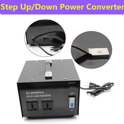 Step Up Down Power 2000 Watt Voltage Converter Transformer 110 220 Volt 1500w