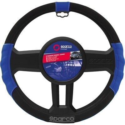 Coprivolante auto 38cm universale Sparco Sport Line elasticizzato nero-blu