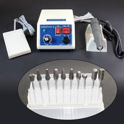 Dental Lab Marathon Micromotor 35k Rpm Polishing Handpiece 10drill Burs Fda