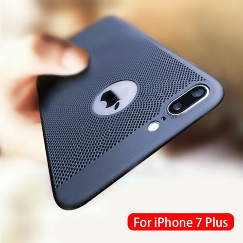 Ultra thin Shockproof Case Breathing Mesh Hole Cover For iPhone 6 7 8Plus XS MAX